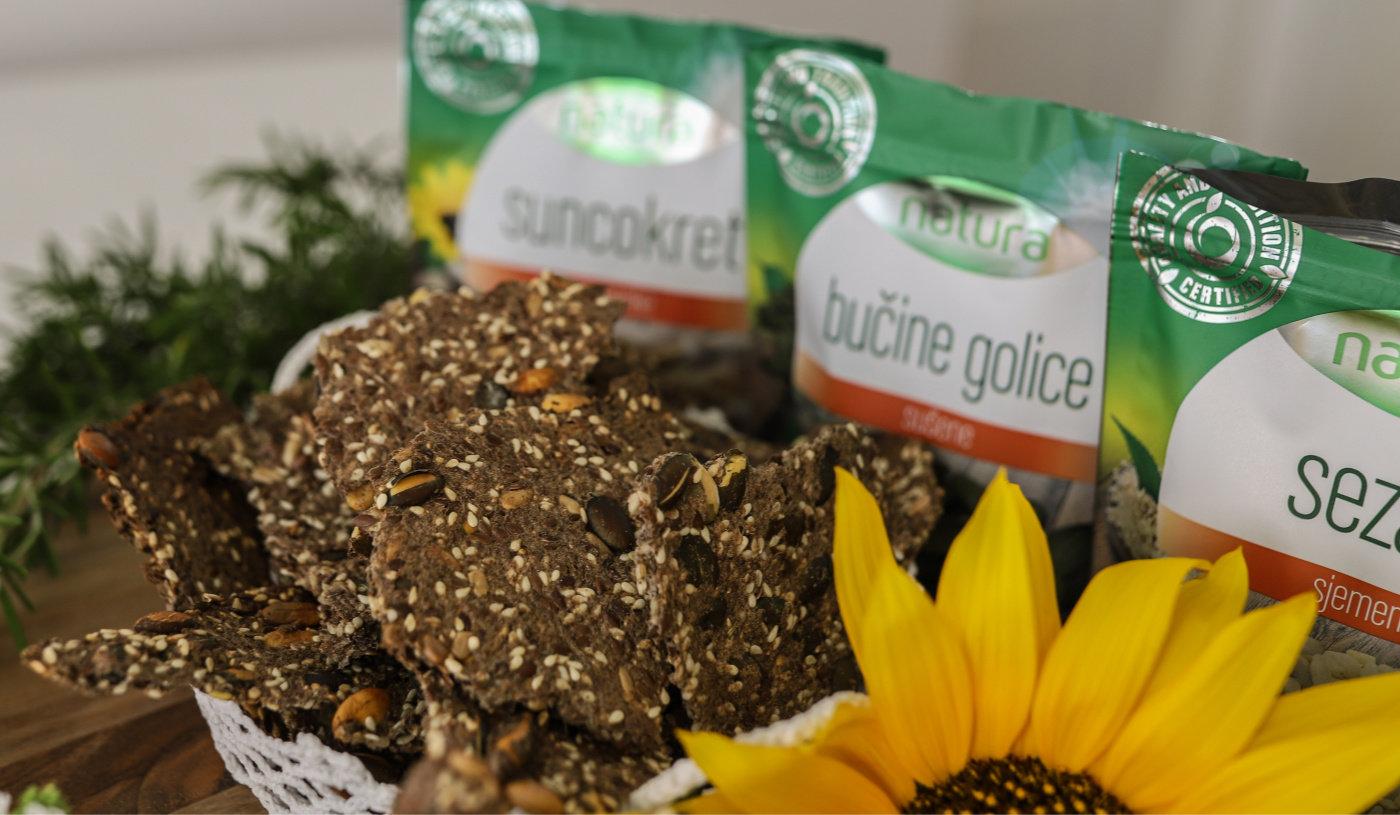 Krekeri od 5 vrsta sjemenki