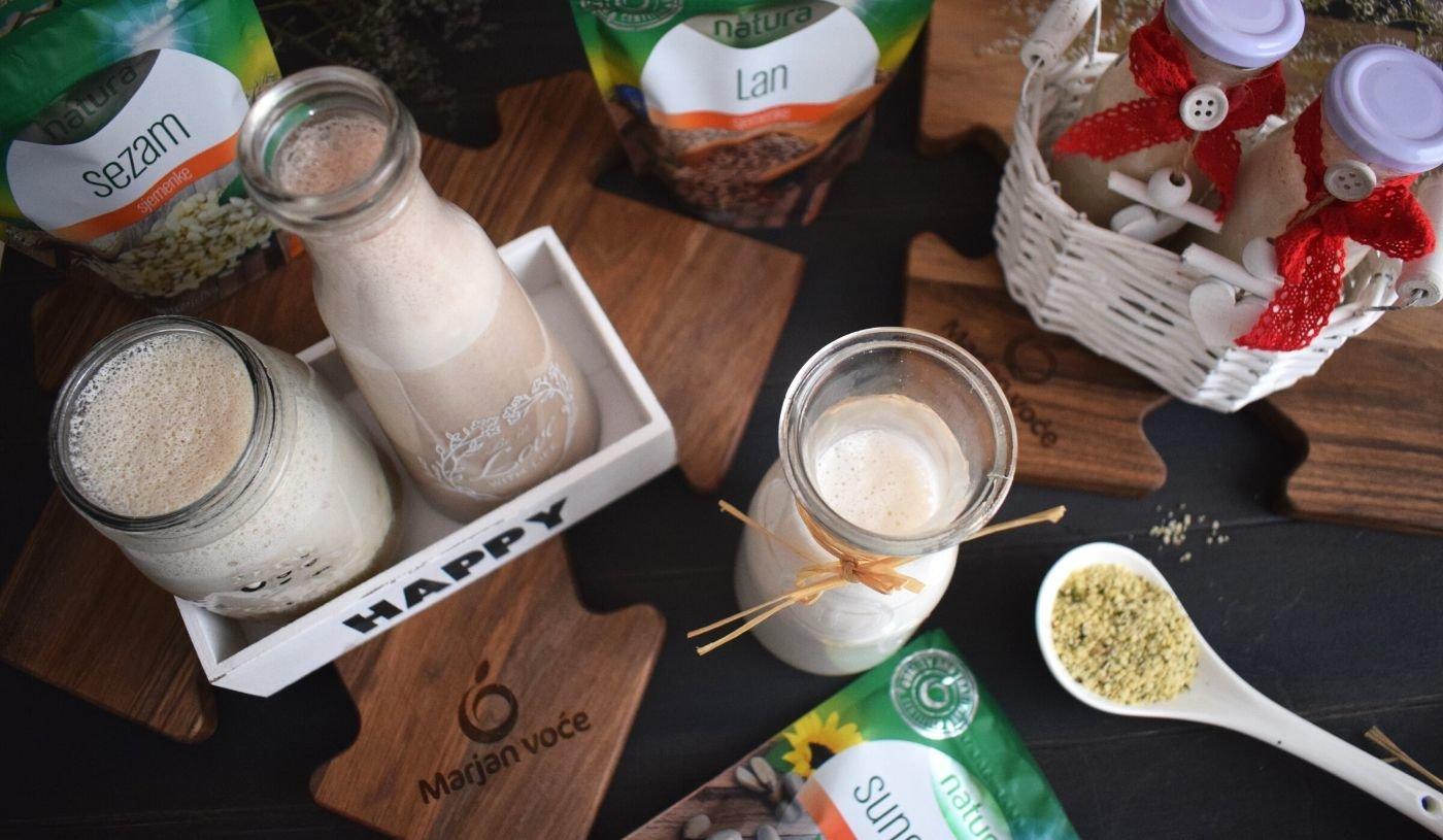4 vrste mlijeka od sjemenki